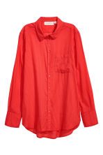 Cotton shirt - Red/Striped -  | H&M 2