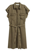 Lyocell shirt dress - Khaki green - Ladies | H&M 2