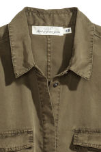 Lyocell shirt dress - Khaki green - Ladies | H&M 3