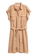 Lyocell shirt dress - Beige - Ladies | H&M CA 2