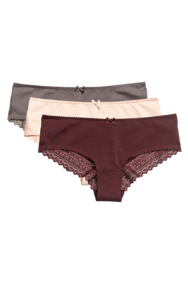 3-pack hipster briefs - Burgundy - Ladies | H&M IE 1