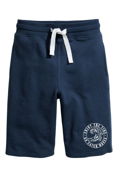 Sweatshirt shorts - Dark blue - Kids | H&M CN 1