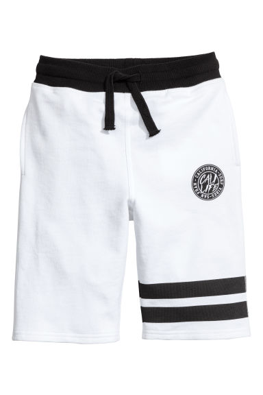 Sweatshirt shorts - White - Kids | H&M
