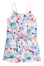 Jersey playsuit - Light pink/Patterned - Kids | H&M 2