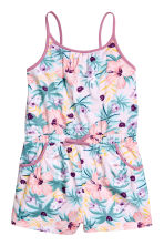 Jersey playsuit - Light pink/Patterned - Kids | H&M 3