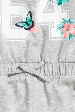 Jersey playsuit - Grey marl - Kids | H&M 3