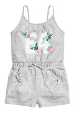 Jersey playsuit - Grey marl - Kids | H&M 2