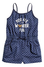 Jersey playsuit - Dark blue/Heart - Kids | H&M 2