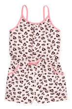 Jersey playsuit - Light pink/Leopard print - Kids | H&M 2