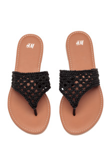 Crocheted flip-flops