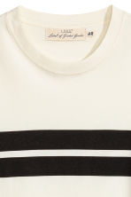 Printed T-shirt - Natural white/Striped - Men | H&M 3