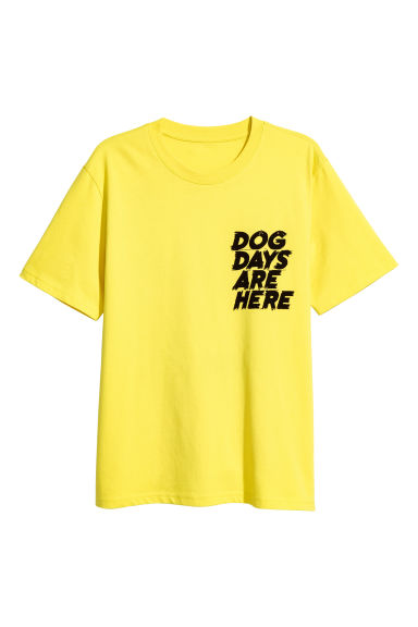 Printed T-shirt - Yellow - Men | H&M CN