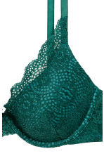 Lace push-up bra - Emerald green - Ladies | H&M 3