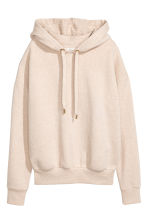 Hooded top - Light beige marl - Ladies | H&M CN 2