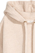 Hooded top - Light beige marl - Ladies | H&M 3