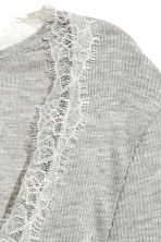 Ribbed jersey top - Grey marl - Ladies | H&M 3