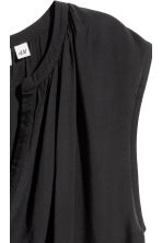 Sleeveless blouse - Black -  | H&M CN 3