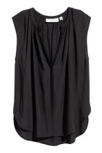 Sleeveless blouse - Black -  | H&M CN 2