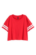 Short T-shirt - Red - Ladies | H&M CN 2