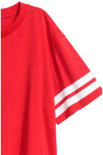 Short T-shirt - Red - Ladies | H&M CN 3