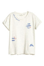 T-shirt a neps - Bianco/blu - DONNA | H&M IT 2