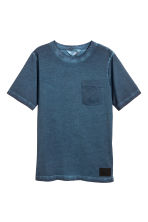 Cotton T-shirt - Dark blue washed out - Kids | H&M 1