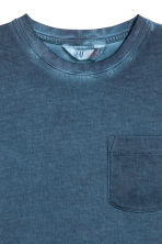 Katoenen T-shirt - Donkerblauw washed out -  | H&M NL 2
