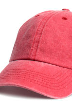 Washed cotton cap - Raspberry washed out - Men | H&M CN 2