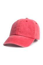 Washed cotton cap - Raspberry washed out - Men | H&M CN 1