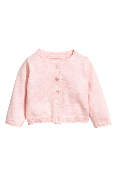 Fine-knit cardigan - Light pink - Kids | H&M 1
