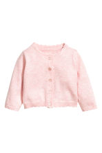 Fine-knit cardigan - Light pink -  | H&M 1