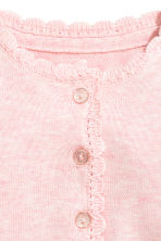 Fine-knit cardigan - Light pink -  | H&M 2
