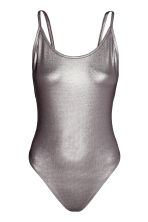 Body metallizzato - Grigio scuro/metallo - DONNA | H&M IT 2