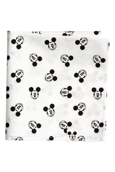Patterned scarf - White/Mickey Mouse -  | H&M 1