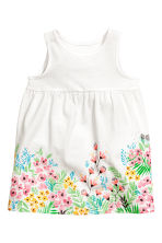 Jersey dress - White/Floral - Kids | H&M CN 1