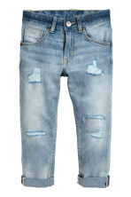 Relaxed Tapered Worn Jeans - Light denim blue - Kids | H&M CN 2