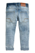 Relaxed Tapered Worn Jeans - Light denim blue - Kids | H&M CN 3