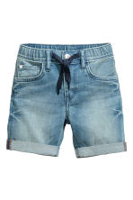 Elasticated denim shorts - Denim blue - Kids | H&M CN 2