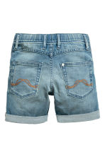 Elasticated denim shorts - Denim blue - Kids | H&M 3