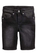 Shortsit Skinny fit - Musta washed out - Kids | H&M FI 2