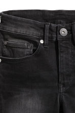 Skinny fit Shorts - Black washed out -  | H&M 4