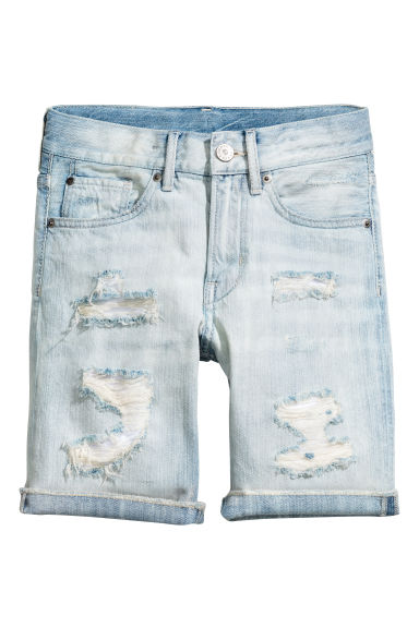 Denim shorts - Light denim blue -  | H&M 1
