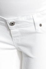 MAMA Denim shorts - White denim -  | H&M 4