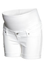 MAMA Denim shorts - White denim - Ladies | H&M CN 2