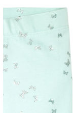 Sturdy jersey leggings - Mint green/Butterflies -  | H&M 2