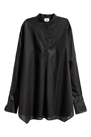 Pima cotton blouse - Black - Ladies | H&M CN 1