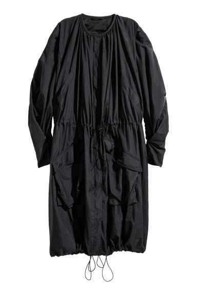 Nylon trenchcoat - Black -  | H&M 1