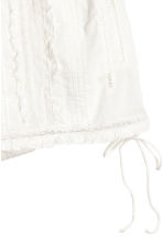 Cotton lace shorts - White - Ladies | H&M 2