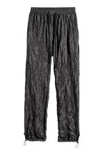 Pantaloni in nylon goffrato - Nero - DONNA | H&M IT 1