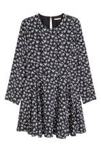 H&M+ Patterned dress - Black/Floral - Ladies | H&M CN 2